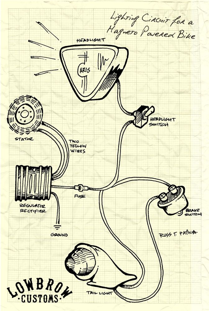 14 Best Images About Mini Chopper Electrical Wiring Diagrams On Pinterest