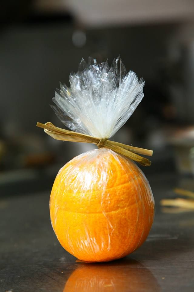Voila! Your very own Stuffed Orange with Crab Meat