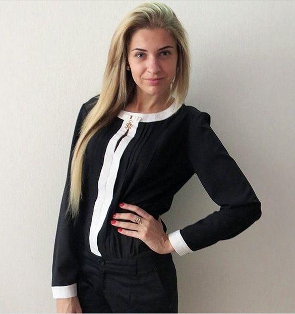 Women Fashion Chiffon Shirt Long Sleeve O-neck Shirt Blouse Tops_Blouses_Women_Women's Fashion Zone & Best Price Clothes