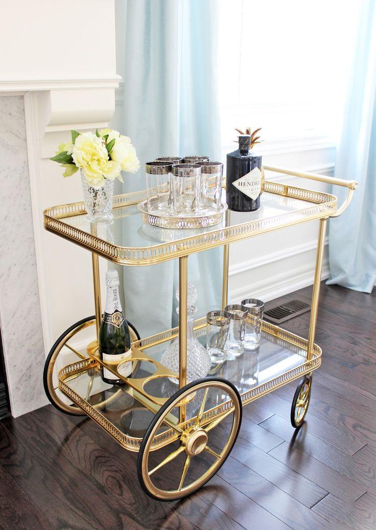 25 best ideas about vintage bar carts on pinterest. Black Bedroom Furniture Sets. Home Design Ideas