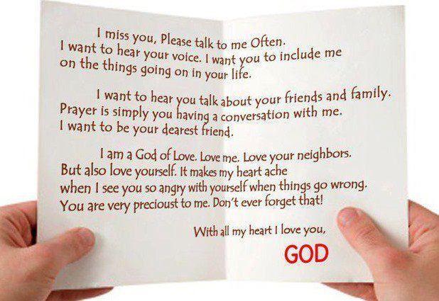 GODS LOVE LETTER   Walk By Faith   Pinterest