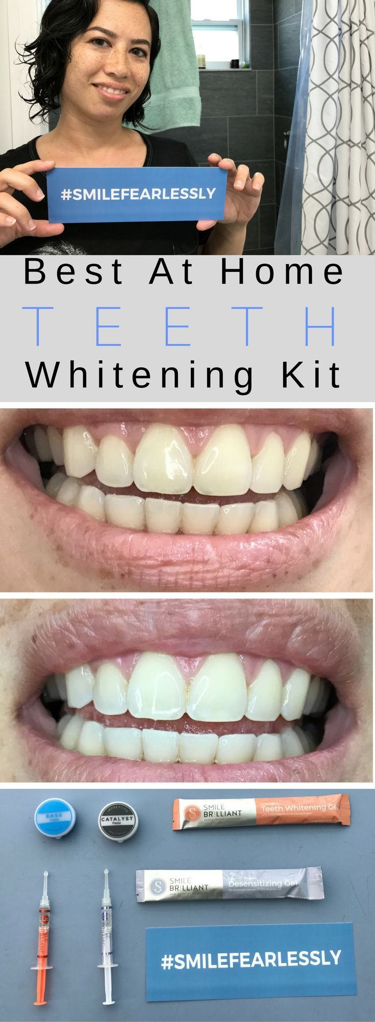 (AD) Want an easy to use system to whiten your teeth? Smile Brilliant is the best at home teeth whitening system. Custom trays ensure quick and easy brightening of your smile. Also, desensitizing gel helps for sensitive teeth that still need whitening. Affiliate link to a truly helpful product.