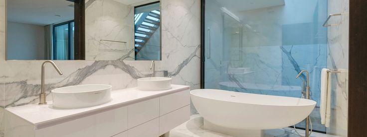 The master bathroom suite