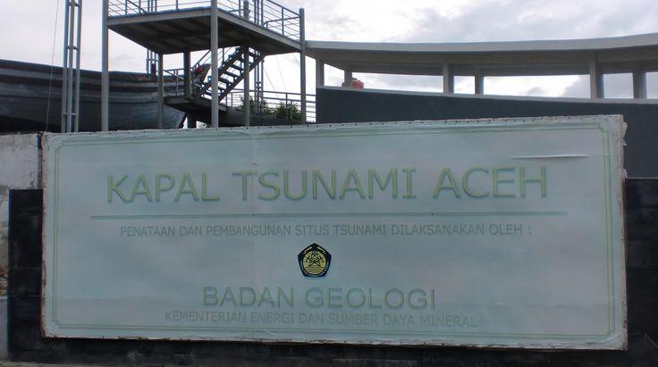 Boat cos of Tsunami at Aceh