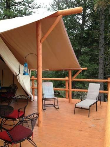 Deck PlansYou can pitch your tent on a platform that matches the tent footprint or you can extend the deck to form a front porch, creating some very useful outdoor living space. You can build the platform yourself or hire a contractor. The