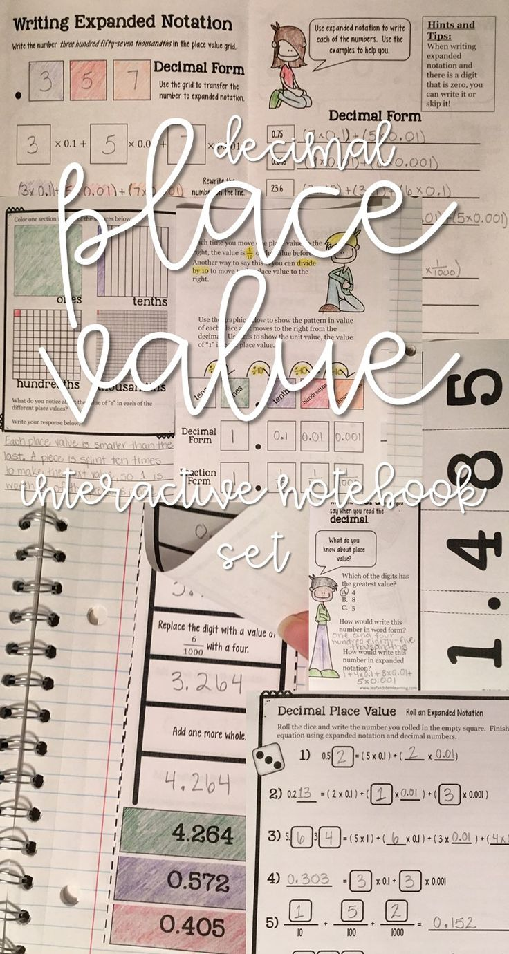 The 25 best decimal ideas on pinterest a complete decimal place value interactive set perfect for back to school robcynllc Images