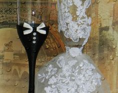 Wedding Glasses Handmade . by AccessoriesbyNicolle on Etsy