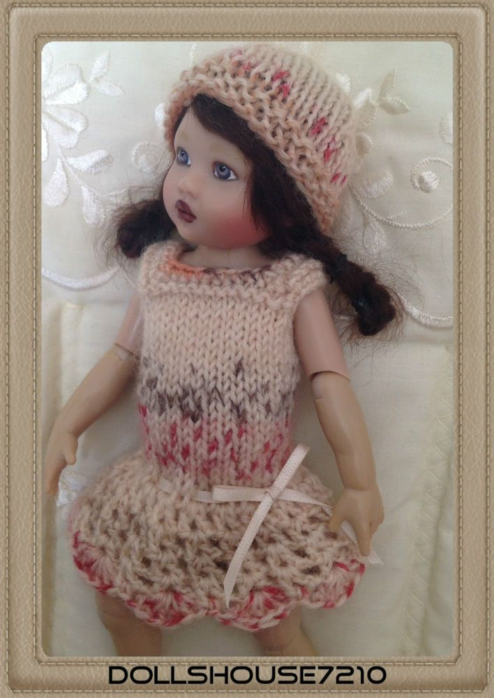 """Hand Knitted&Crocheted outfit for 7.5-8"""" Kish Riley Helen Kish,Tonner BJD 