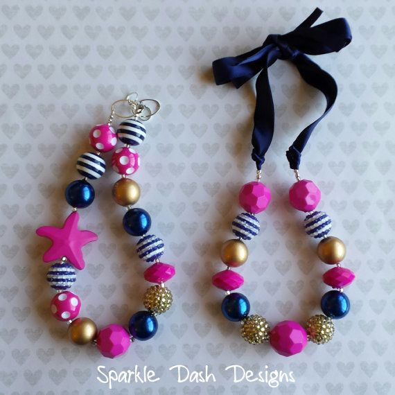 17 best images about bubble gum necklaces on pinterest for Ribbon tie necklace jewelry
