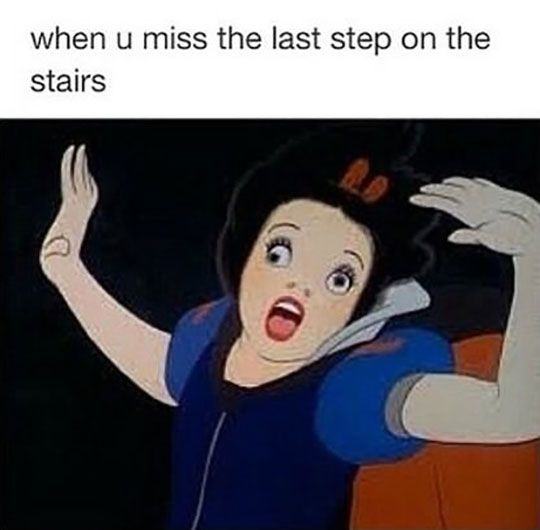 Missing that last step on the stairs