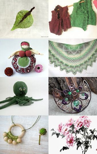 Green Purple Pink February by Jelena on Etsy--Pinned with TreasuryPin.com
