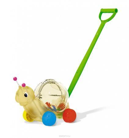 """Stellar Игрушка-каталка Улитка  — 792р. ------------------------ Яркая игрушка-каталка Stellar """"Улитка"""" непременно понравится вашему малышу и подойдет для игры, как дома, так и на свежем воздухе. Игрушка выполнена из прочного пластика в виде симпатичной улитки на колесиках. Улитка порадует малыша своим веселым видом и шариками внутри игрушки, которые будут весело греметь при передвижении. Игрушка-каталка Stellar """"Улитка"""" развивает пространственное мышление, цветовое восприятие, тактильные…"""