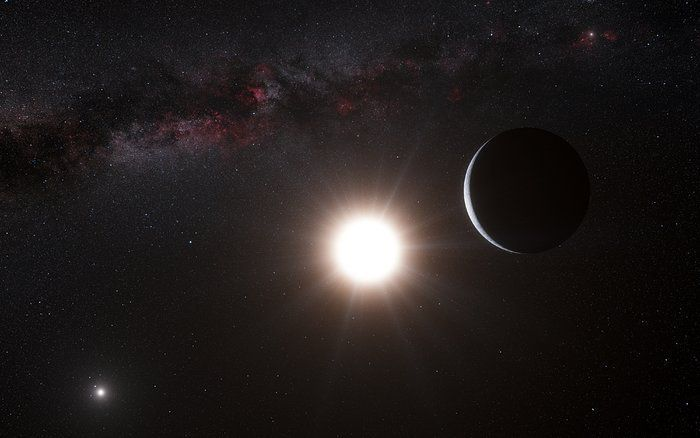 A scientific research consortium plans to build a telescope that will seek out an ocean-covered world in a neighboring star system.