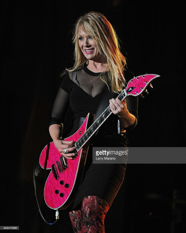 Nancy Wilson of Heart performs at Fontainebleau Miami Beach on April 11 2015 in Miami Beach...