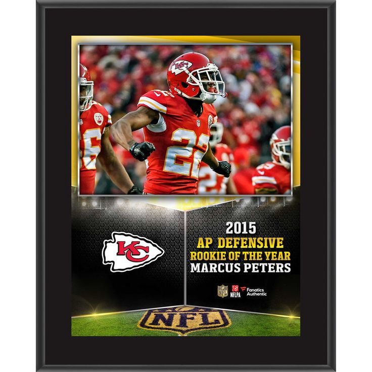 """Marcus Peters Kansas City Chiefs Fanatics Authentic 10.5"""" x 13"""" NFL Honors 2015 Defensive Rookie of the Year Sublimated Plaque"""