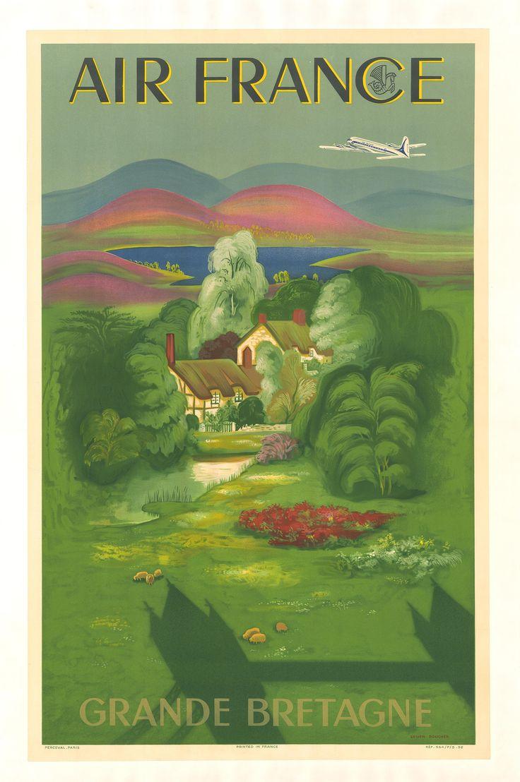 1007 beste afbeeldingen over vieilles affiches op pinterest - Office tourisme grande bretagne paris ...