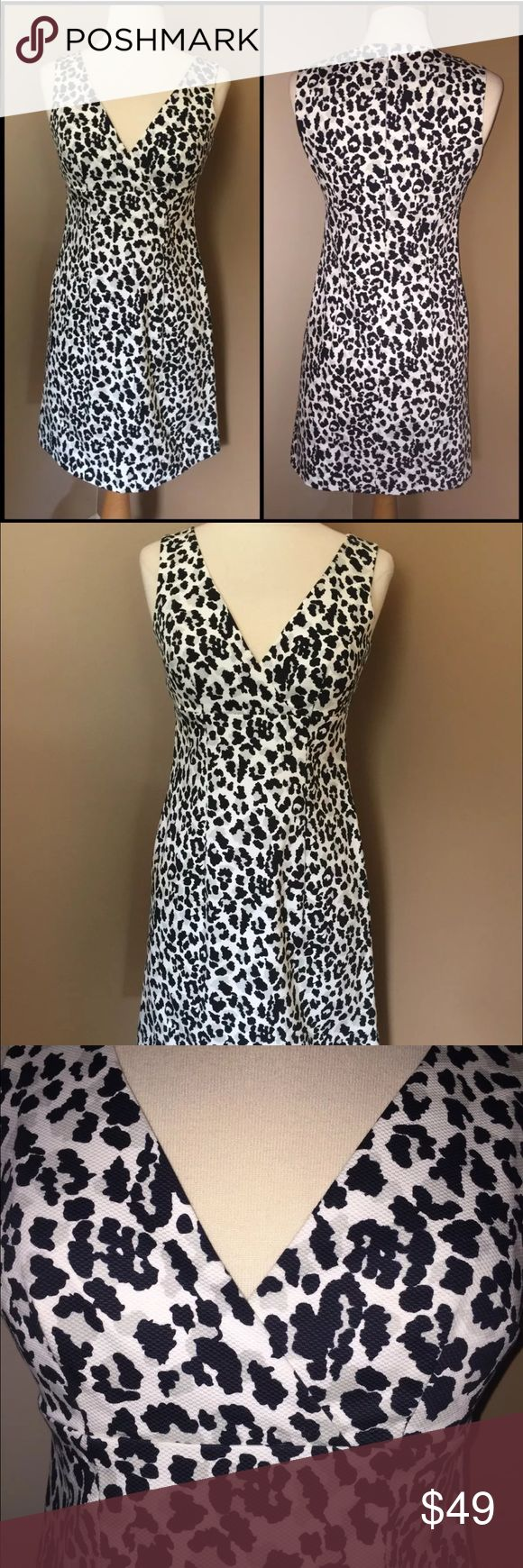 MICHAEL KORS Animal Print Cocktail Dress Size 0 MICHAEL KORS Black And White Animal Print Cocktail Dress Size 0. Worn just once. In amazing condition. Michael Kors Dresses Mini