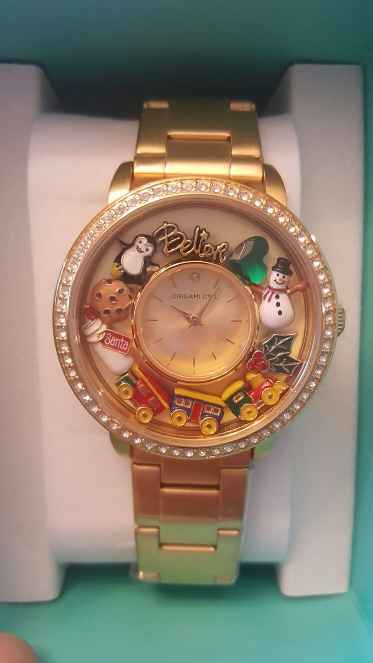 Do you believe in the magic of Christmas brand new watch from Origami Owl holds charms comes and Silver and Gold look at the awesome 2017 holiday charms get yours now www.jilayne.origamiowl.com