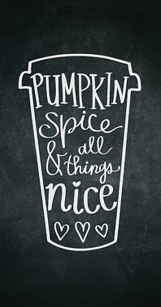 chalkboard pumpkin spice printable                              …