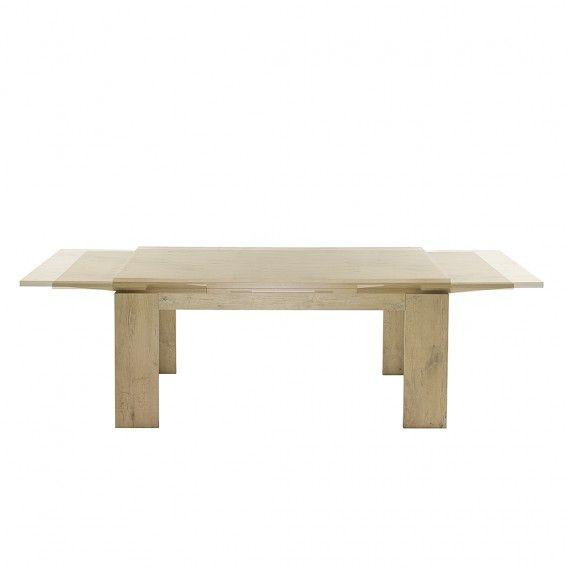 Table de salle à manger Leaf II (avec rallonge) - Imitation chêne brut de sciage | home24.fr