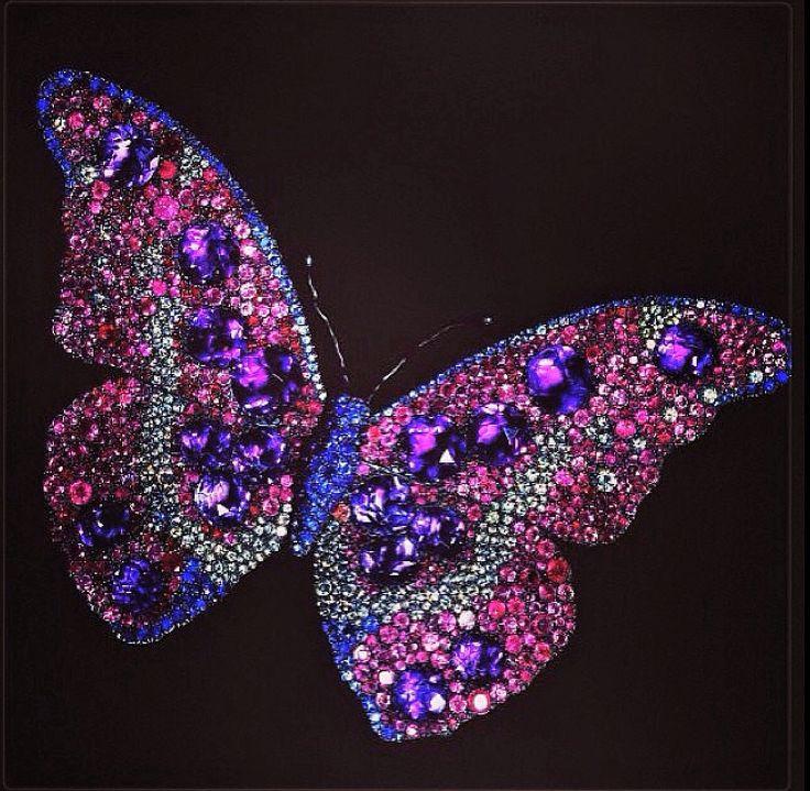 JAR Butterfly brooch with rubies, amethysts, sapphires, and diamonds. Joel Arthur Rosenthal