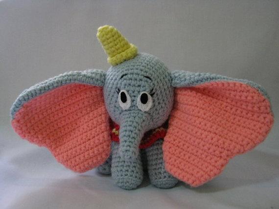 Amigurumi Walt Disney : dumbo the walt disney animation amigurumi crochet doll by ...