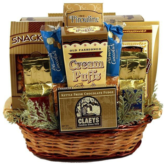 Golden Gift Baskets 50th Wedding Anniversary Idea For