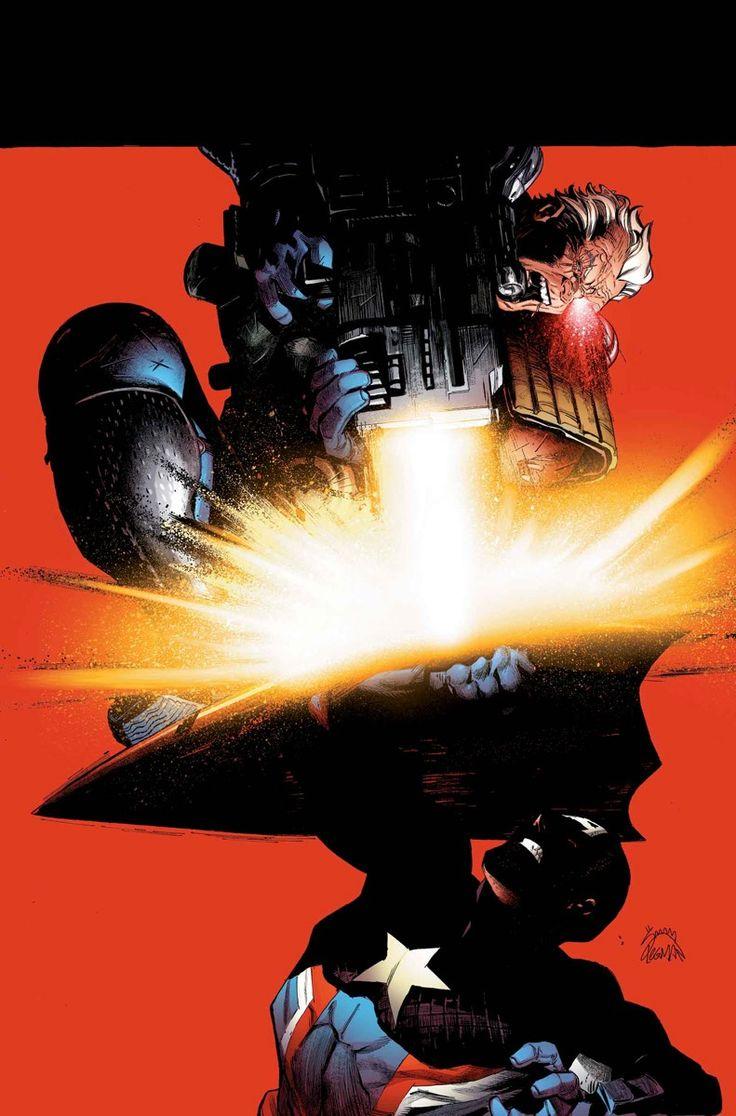 Uncanny Avengers #14 - Captain America vs. Cable by Ryan Stegman