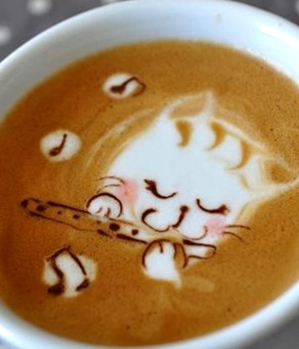 :*¨¨*:·. Coffee ♥ Art.·:*¨¨*:· Cat latte ♫♪