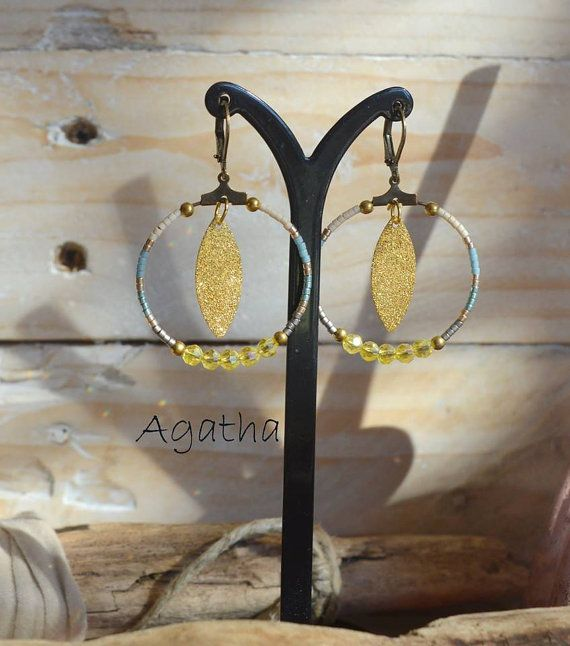 Boucles d'oreilles Agatha collection Sunset par LesMisstinguettes