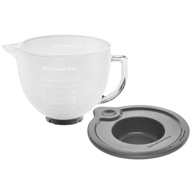 K5gbf frosted 5 qt mixing bowl with handle and lid for