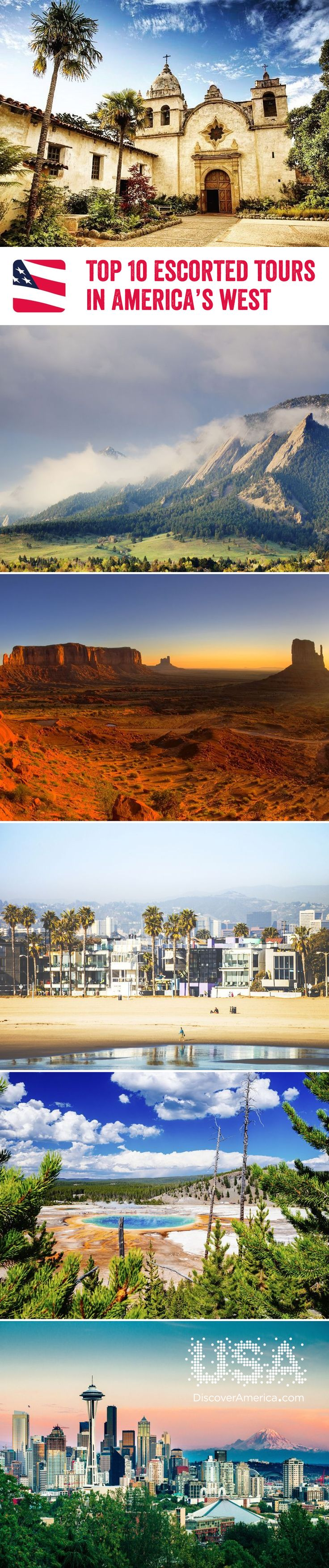 For fast-paced, glamourous cities and incredible National Parks, head on an escorted tour to America's West. We've even given you our top 10 favourites to choose from!