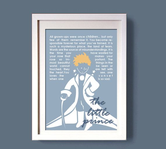 the little prince wall art decor art decoration art by COLOR4FUN