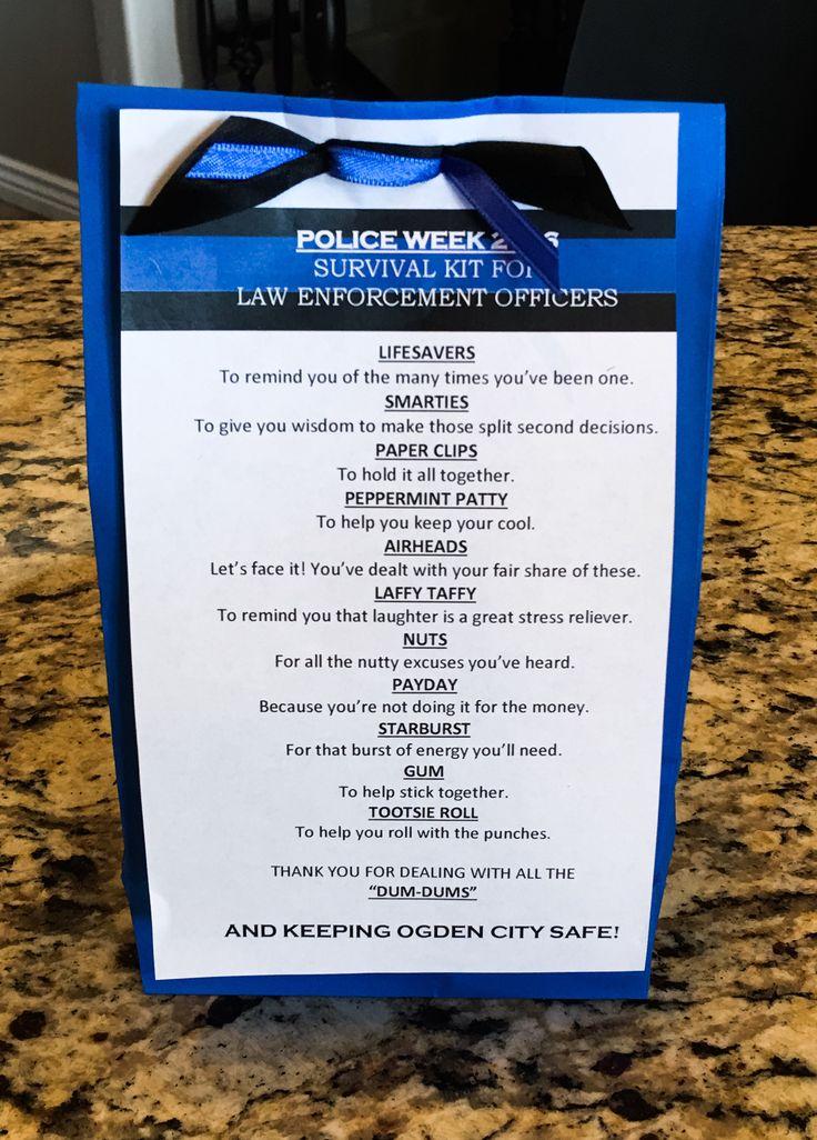 Police officer survival kit Police week 2016