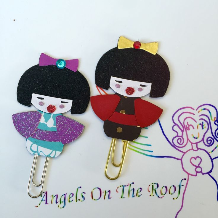 A personal favorite from my Etsy shop https://www.etsy.com/ca/listing/269142579/kokeshi-doll-paper-clip