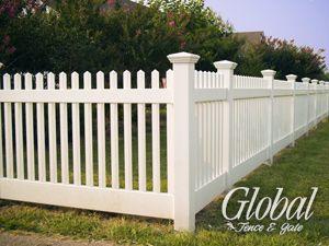 narrow picket vinyl fence style