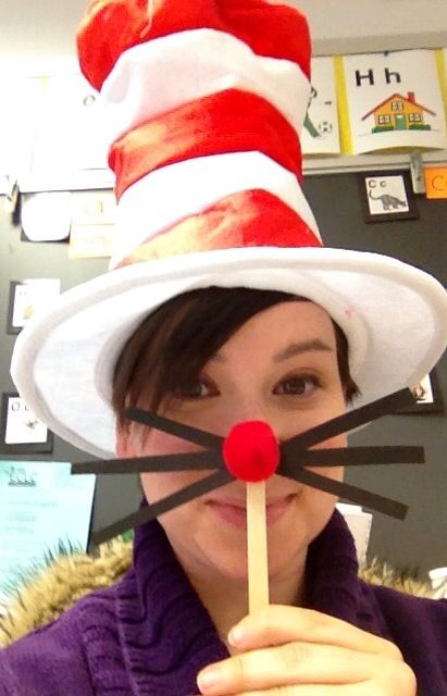 """Cat in the hat art activity. Dr. Seuss birthday idea....like the """"whiskers"""""""