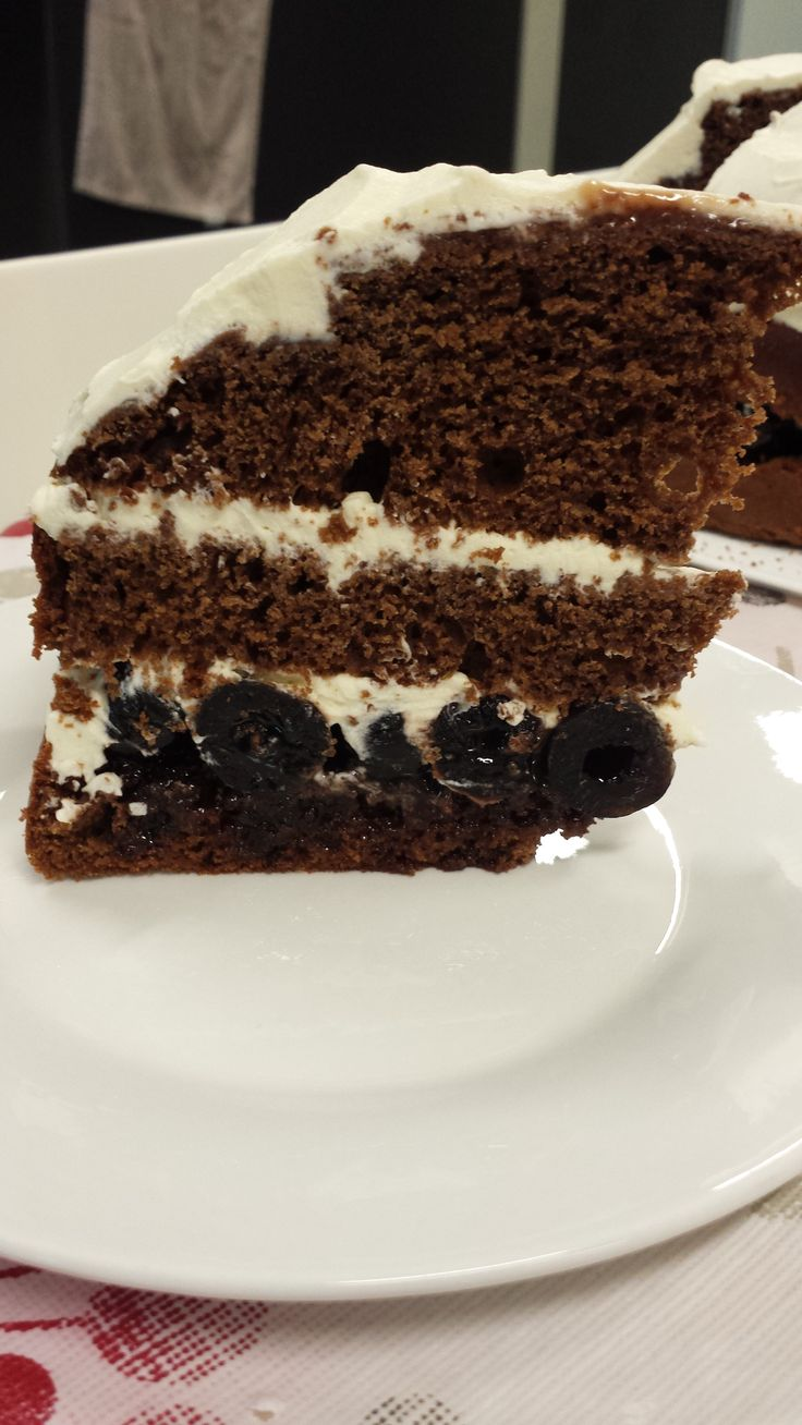 First attempt at Black Forest Cake.