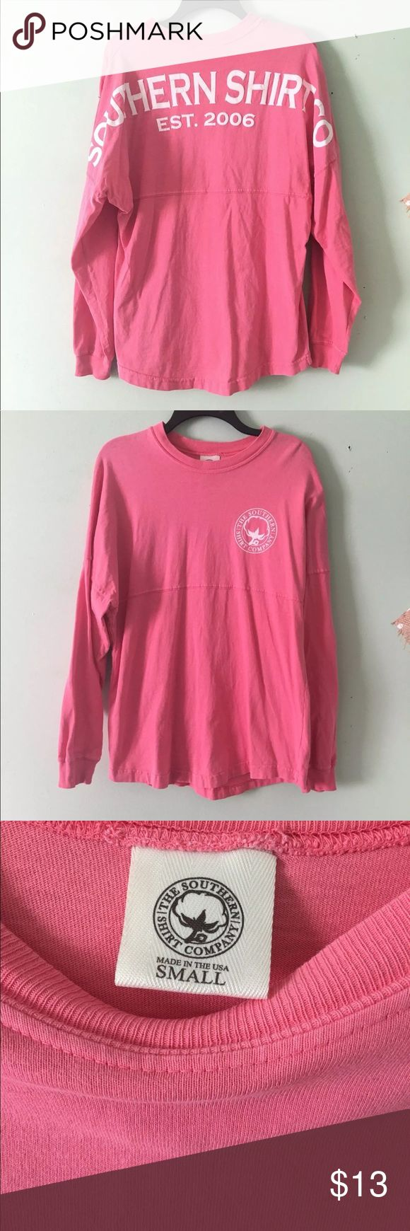 Women's Preppy Southern Shirt Company T-Shirt S Southern Shirt Company Preppy Pink Long Sleeve T-Shirt. There is a hole in the armpit, that can be sewn back since it is near the seam. No one sees your armpit anyway. Overall, in great condition.  **Actual Color May Be affected Due to Lighting**  Please check out my other Western/Cowboy/Cowgirl/and other clothing items I have listed.  Tags: Simply Southern, Southern Tide, Southern Fried Cotton, Southern Marsh, Southern Shirt Company, Vineyard…