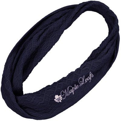 I want this! Reebok Toronto Maple Leafs Ladies Infinity Scarf - Navy Blue