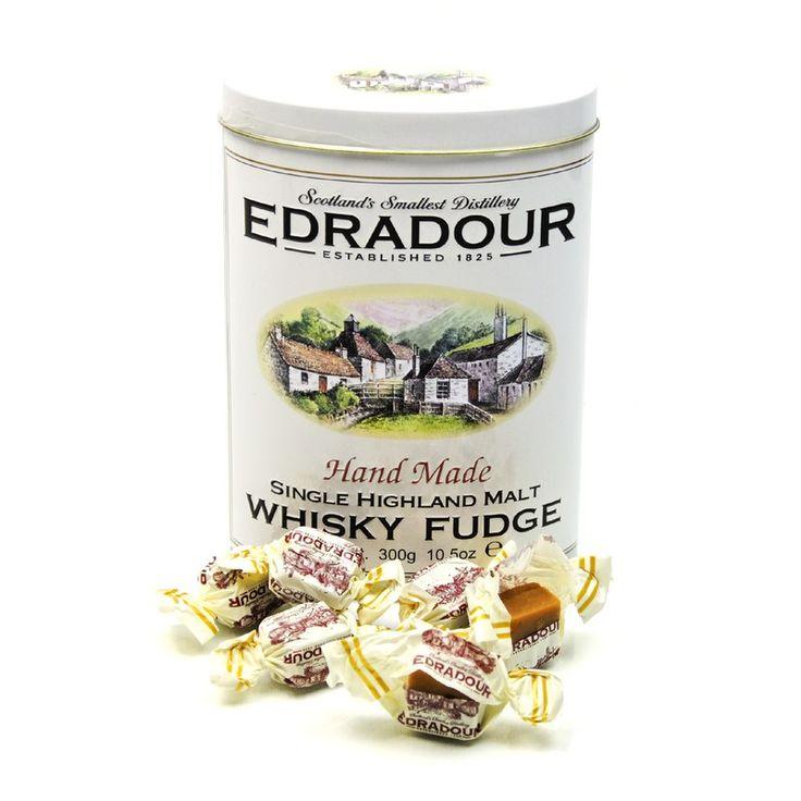 Edradour Whisky Fudge mit Edradour Whisky in Blechdose 300 g/ 1.00% - geschenkefinden.jetzt