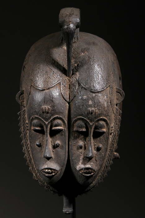 Africa | Mask from the Baoulé people of the Ivory Coast | ca 40 yrs old