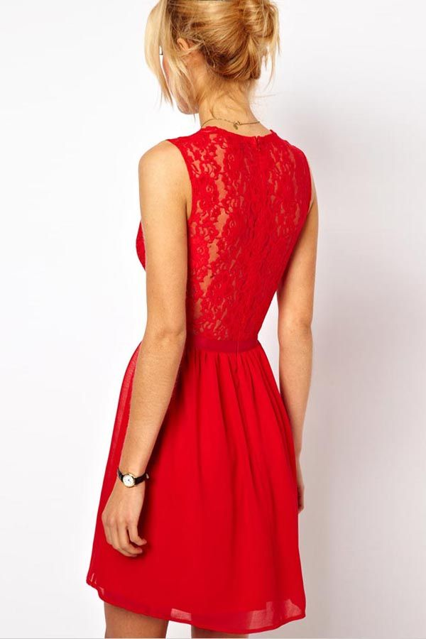 Red lace dress outfit maker