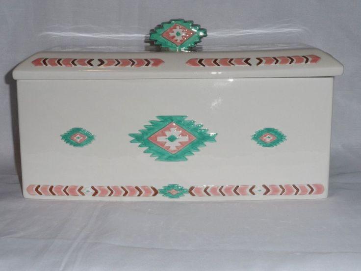 Bread Box Aztec Southwestern Design Storage Container #Unknown