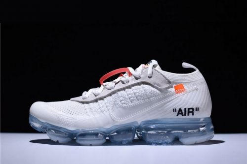 fbc6985610c Shop 2018 Virgil Abloh Off-White x Nike Air VaporMax White Black Total  Orange AA3831-100 For Sale - ishoesdesign