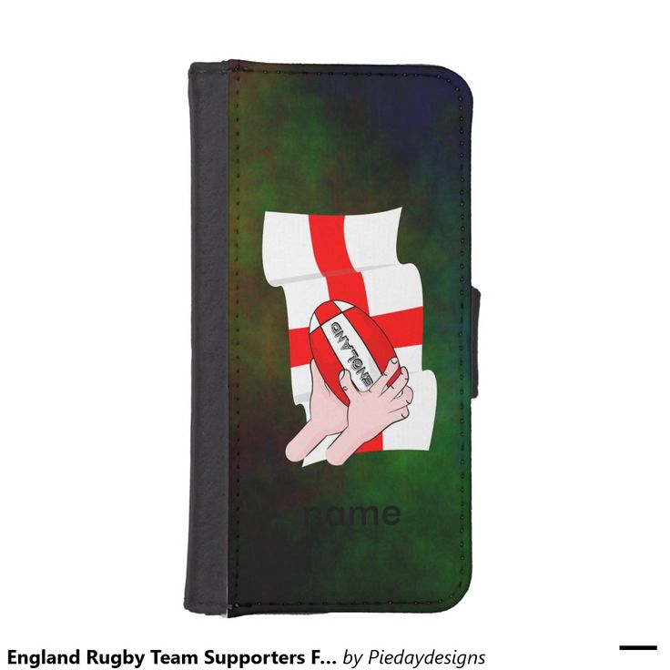England Rugby Team Supporters Flag With Ball iPhone 5 Wallet Cases