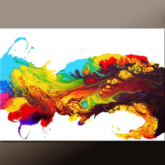 1091 best peintures abstraites images on pinterest for Posters art contemporain