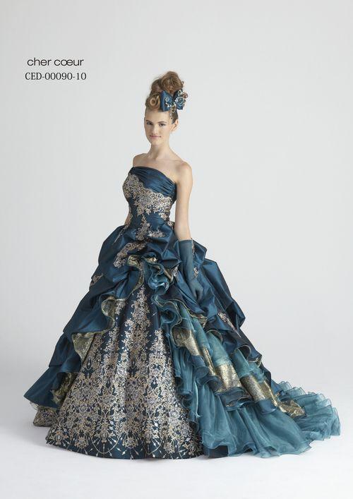 Gipsy style evening dress