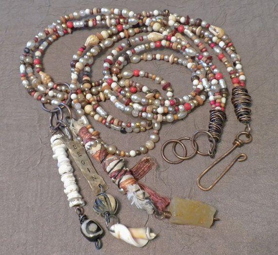Southwestern Talisman Mixed Media Jewelry by Tamara Ruiz via Etsy Another beauty for summer.