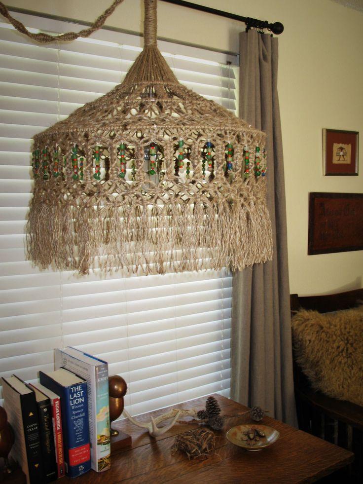 1279 best Macrame Lampshades images on Pinterest   Lamp ...
